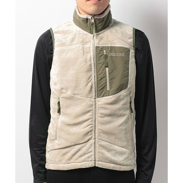 Marmot マーモット ORIGIN FLEECE VEST/NAT/M MJF-F7067男性用 ホワイト