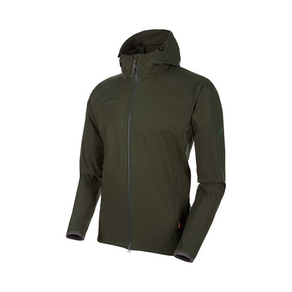 Mammut マムート GRANITE SO Hooded Jacket AF Men/M/dark olive 1011-00321アウトドアウェア ジャケット男性用 ジャケット メンズウェア アウター おうちキャンプ