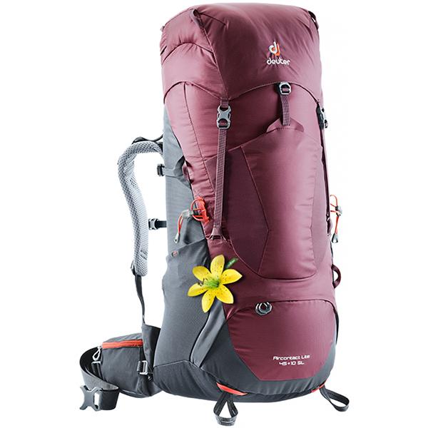 deuter ドイター エアコンタクト ライト 45+10 SL マロン×グラファイト D3340218-5423アウトドアギア トレッキング40 トレッキングパック バッグ バックパック リュック レッド 女性用 おうちキャンプ