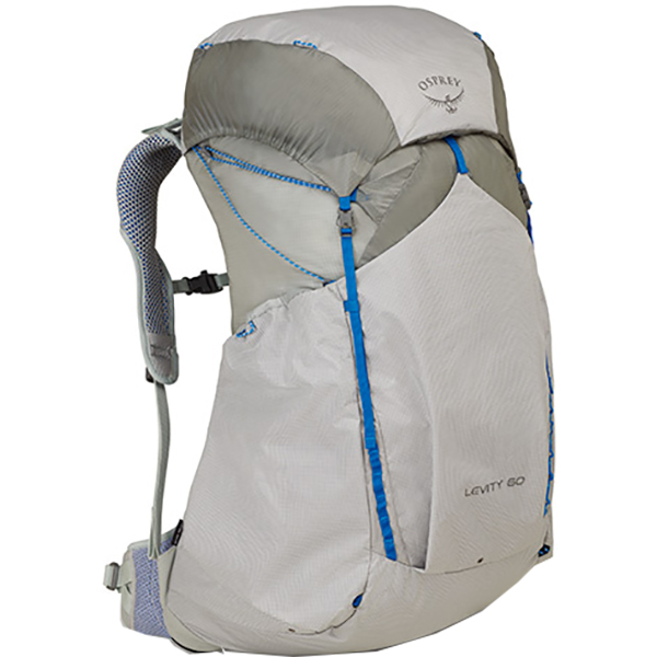 OSPREY オスプレー レヴィティ 60/パララックスシルバー/M OS50341001005アウトドアギア トレッキング60 トレッキングパック バッグ バックパック リュック シルバー 男性用 おうちキャンプ