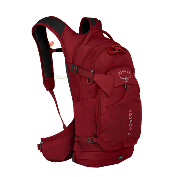 OSPREY オスプレー ラプター 14/ワイルドファイアレッド OS56080001001アウトドアギア 自転車用バッグ バッグ バックパック リュック レッド 男性用 おうちキャンプ