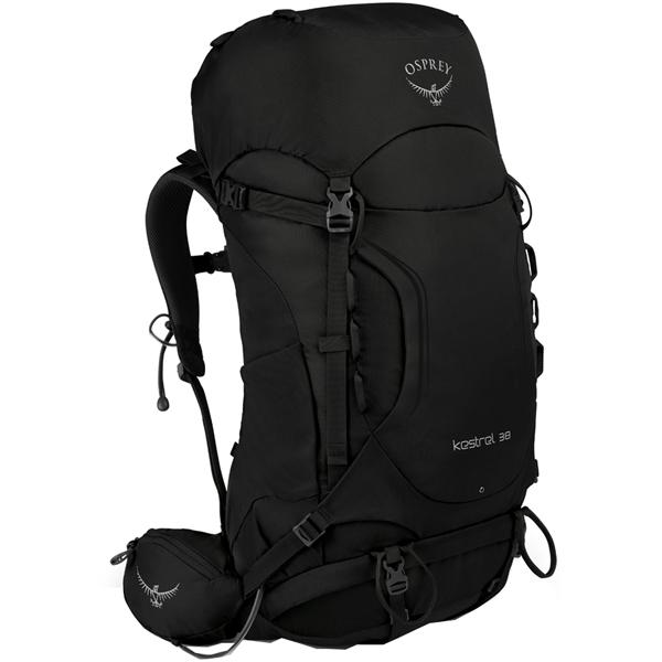 OSPREY オスプレー ケストレル 38/ブラック/M/L OS50141001006アウトドアギア トレッキング30 トレッキングパック バッグ バックパック リュック ブラック