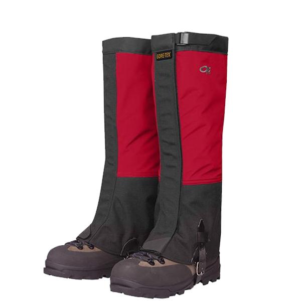 Outdoor Research(アウトドアリサーチ) ORMensCrocodileGaiters/chili/black/XL 19496157男性用 レッド ブーツ 靴 トレッキング ウェアアクセサリー 冬用ゲーター(スパッツ) アウトドアウェア