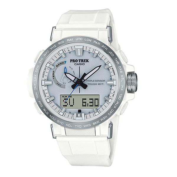 CASIO カシオ PRO TREK/PRW-60-7AJF PRW-60-7AJFアウトドアギア 高機能ウォッチ メンズ腕時計 ホワイト 男性用 おうちキャンプ