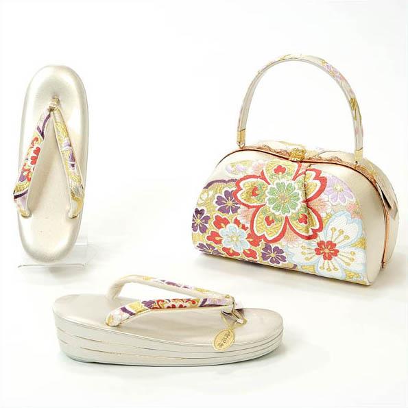 草履バッグセット 成人式 振袖 世美庵 正絹袋帯使用 日本製 Lサイズ