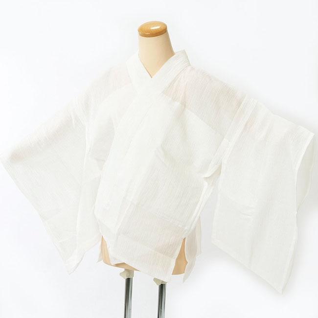 夏の半襦袢 本麻わた入り 汗取りじゅばん Lサイズ 半衿・袖・衣紋抜き付き 日本製