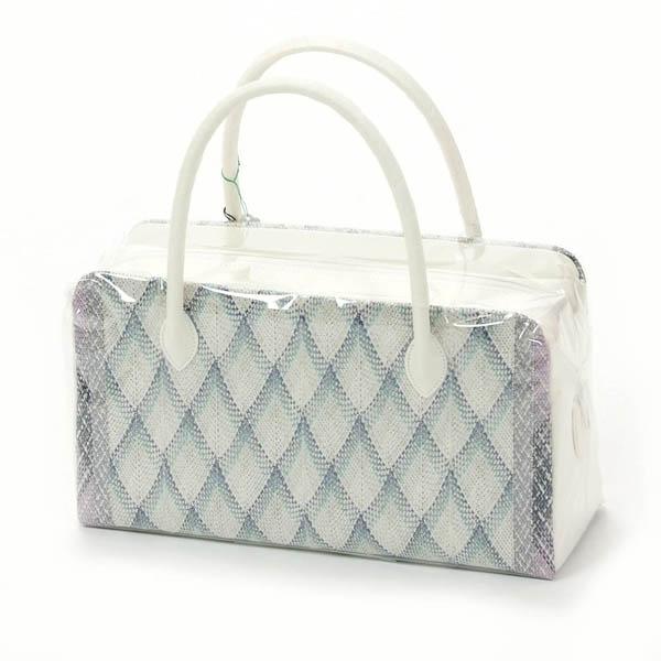 母の日プレゼント 和装バッグ 利休バッグ 組織 正絹 フォーマル 礼装用 お茶席 グレー