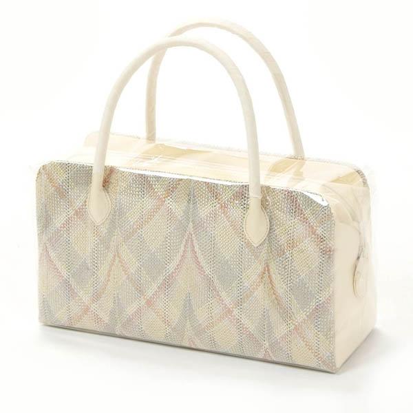母の日プレゼント 和装バッグ 利休バッグ 組織 正絹 フォーマル 礼装用 お茶席 ベージュ