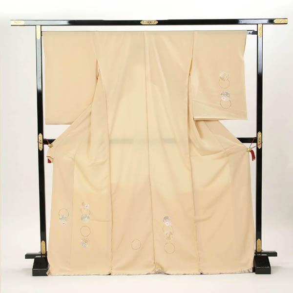 訪問着 正絹 礼装 フォーマル 未仕立て品 お仕立て付 ベージュ系