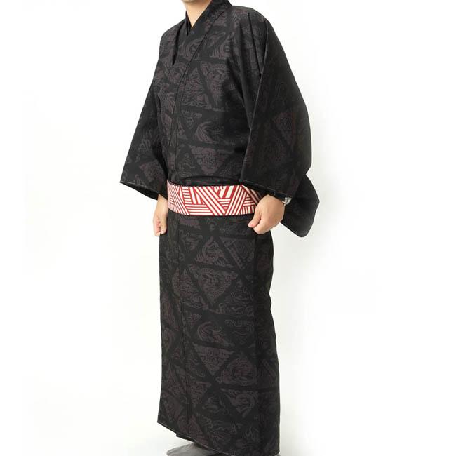 紳士 着物 UNSODO LLサイズ 黒色 日本製