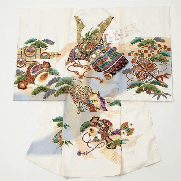 お宮参り着物 白色 のしめ 男の子 正絹 日本製 のしめ 白色 日本製 兜, 玉子屋やまたか:80a380b7 --- acessoverde.com