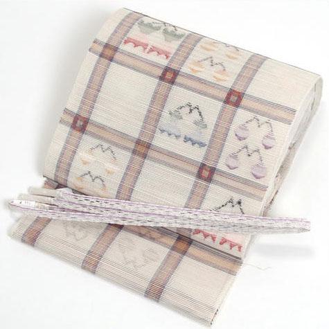 国産八寸羅織り帯
