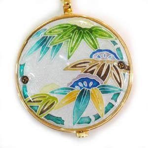 懐中時計 雪もち笹(銀) 着物に似合う存在感 京七宝 懐中時計 記念品・プレゼントにも