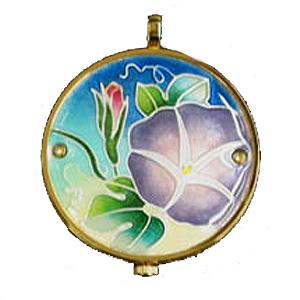 懐中時計 あさがお(ブルー) 着物に似合う存在感 京七宝 懐中時計 記念品・プレゼントにも