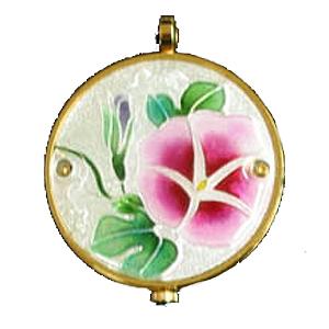 懐中時計 あさがお(白) 着物に似合う存在感 京七宝 懐中時計 記念品・プレゼントにも