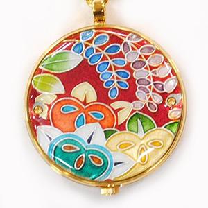 懐中時計 橘(赤) 着物に似合う存在感 京七宝 懐中時計 記念品・プレゼントにも