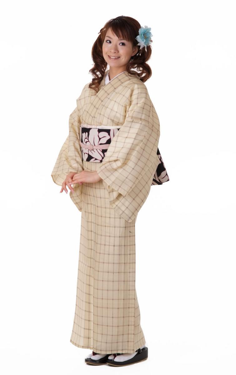 夏着物 正絹 紬織り小紋