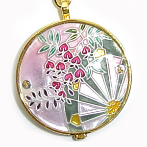 懐中時計 着物に似合う存在感 京七宝 源氏物語に恋する懐中時計 花宴(ピンク) 記念品・プレゼントにも