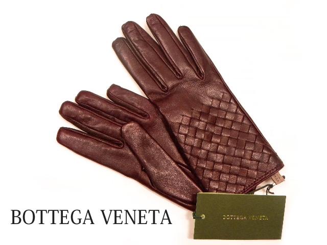 BOTTEGA BENETA ボッテガ・ヴェネタ イントレチャート レディース手袋 カラー:ワイン系