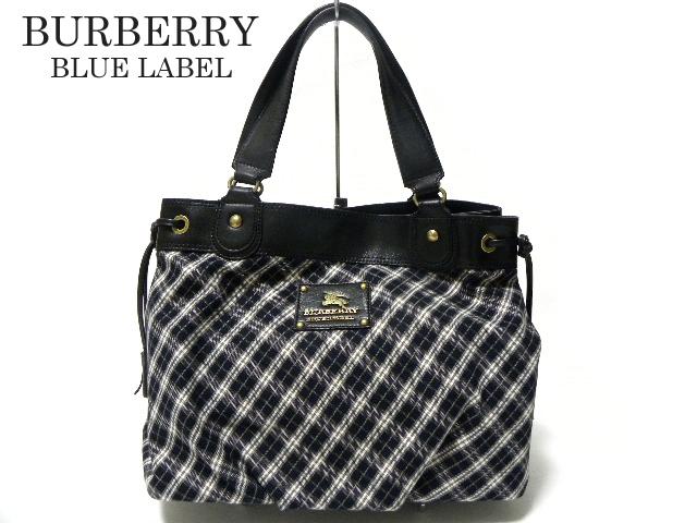ebe7772bb5a3 BURBERRY BLUE LABEL Burberry Blue label Tokyo check print Tote Bag Black  series