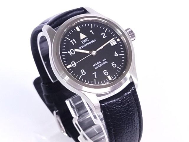 IWC 3241 mark 12 SS X leather lindera board self-winding watch