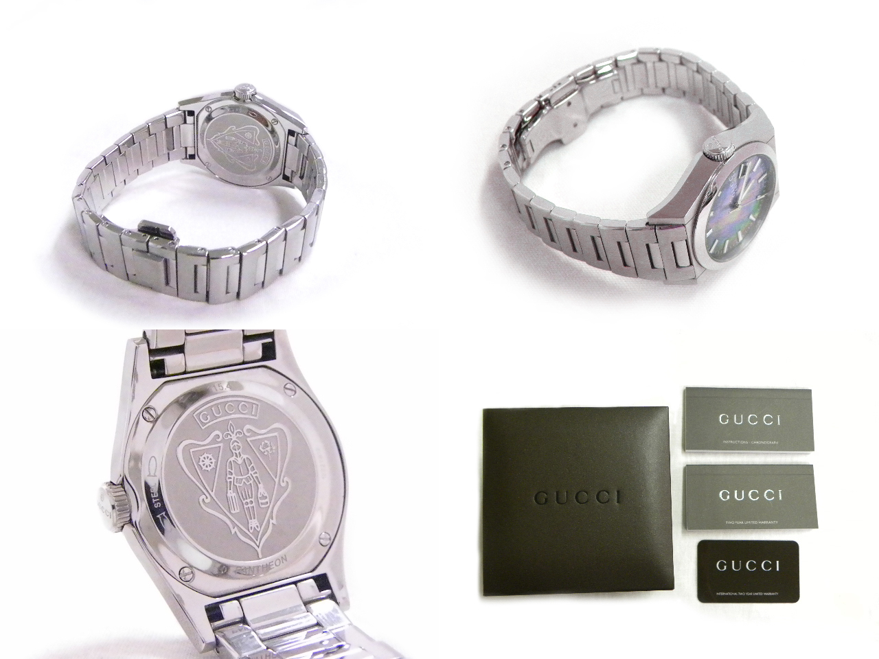 115.4 GUCCI gucci Pantheon SS black shell clockface quartz