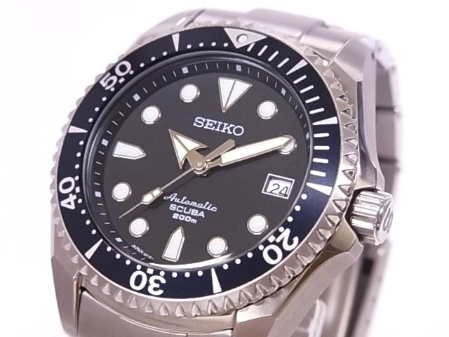 Pawnshop YAMAKI  Seiko SEIKO SBDC007 ProspEx diver scuba TI black ... 62b5025bad5a