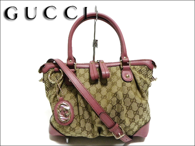dc3f56815841 GUCCI Gucci sukey 247902 2-way bag vintage rose leather / canvas ...