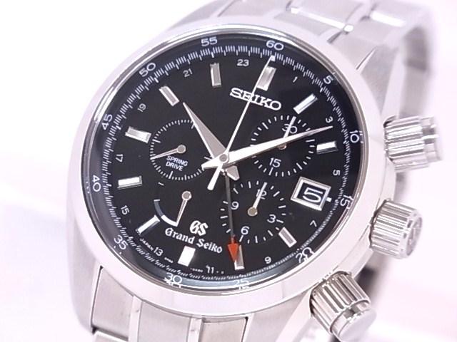 Seiko SEIKO SBGC003 Seiko spring drive chronograph SS black dial caseback