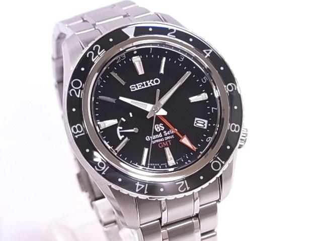 Seiko SEIKO SBGE001 Grand Seiko spring drive GMT SS black dial