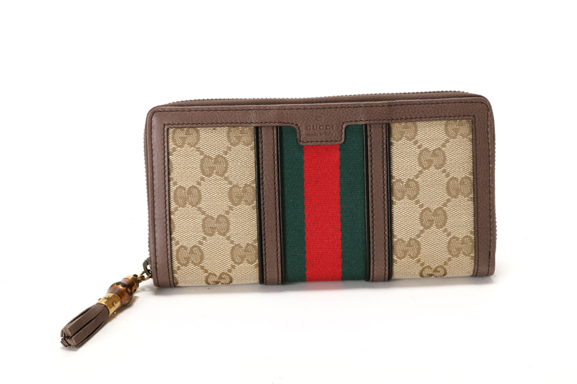 421bffe2ae2a GUCCI Gucci 353651 Rania zip around wallet (large zip around wallets) beige  / ebony & cocoa (Brown)