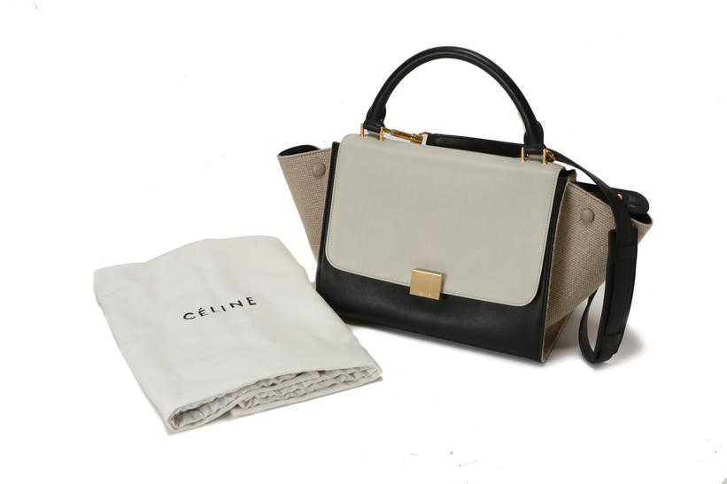 b3801e1bb2f5 Pawnshop YAMAKI  CELINE Celine Trapeze small 2-way bag leather ...
