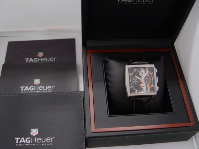 Brand new as well as Tag Heuer TAGHEUER Monaco Chrono ヴィンテージガルフ ( CW211A ) Limited Edition 4,000