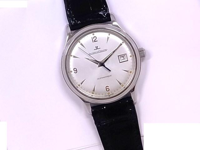 Jaeger-LeCoultre JAEGER LECOULTRE 140.8.89 master control big master silver character Panel SSx leather automatic winding