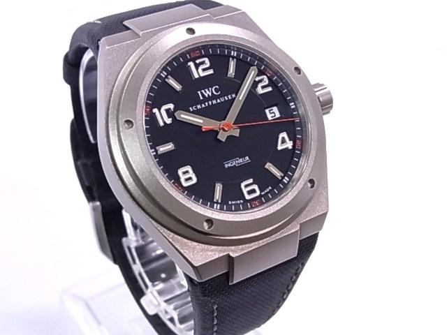 IW322703 IWC Ingenieur AMG titanium x soft strap black dial automatic movement
