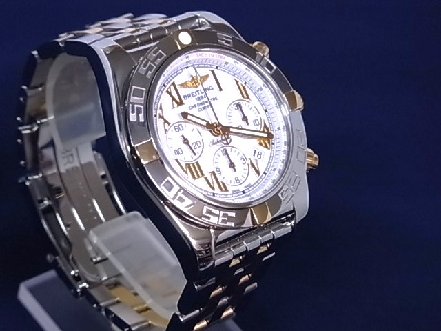Blight ring BREITLING IB0110 Kurono mat B01 SS X PG white clockface self-winding watch