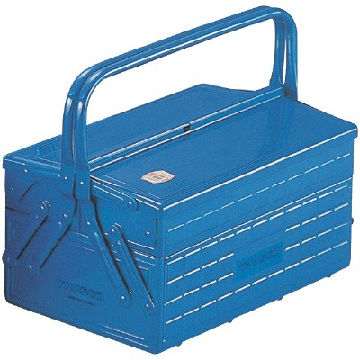 Trusco TRUSCO 2-stage type tool box length 352 width 220 height 289 blue GL-350-B (P)
