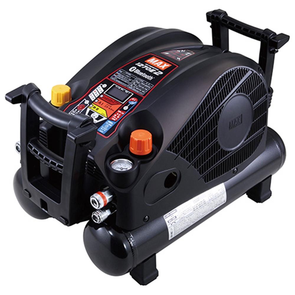 MAX エアコンプレッサー(高圧・常圧兼用)11L AKHL1270E2・クロ