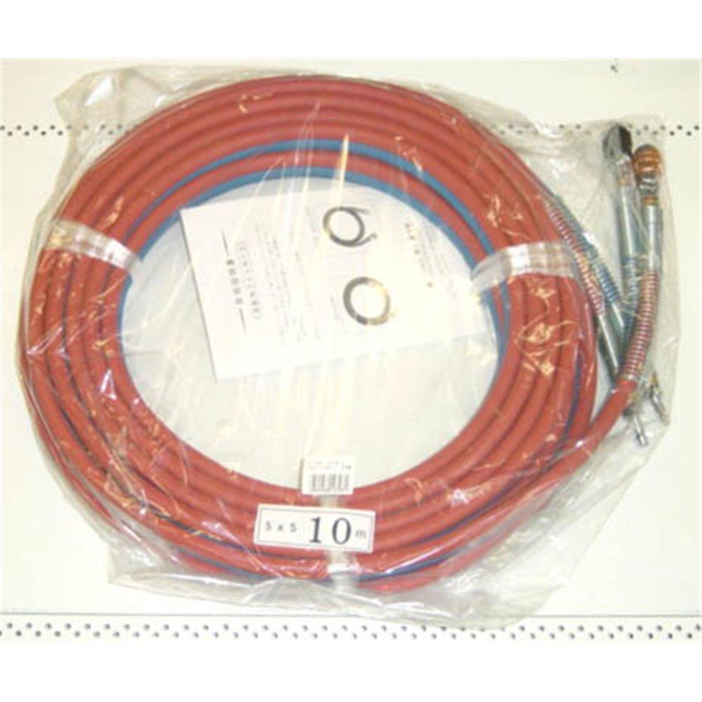 ガス用 ライトホース(カプラ付き) 10m
