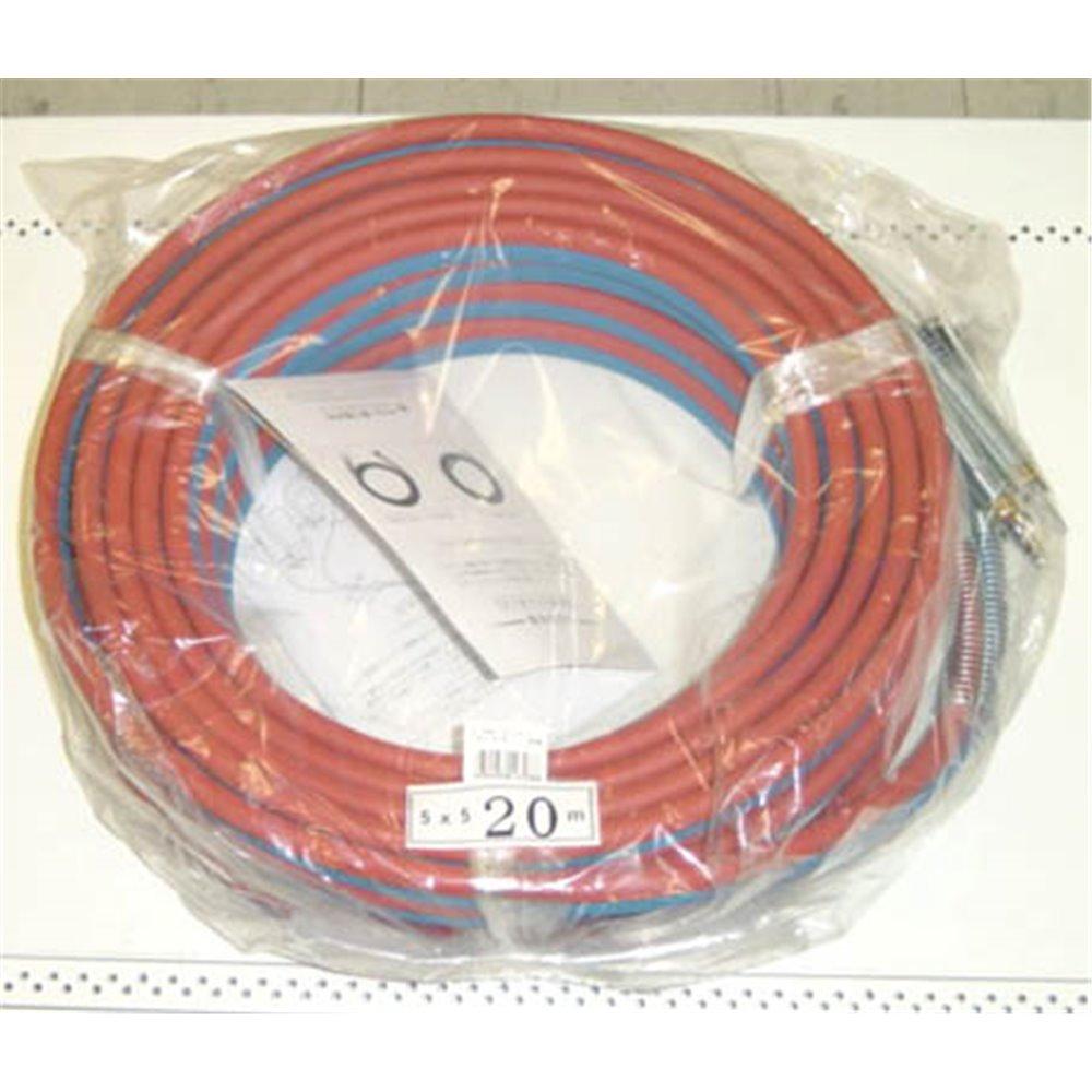 ガス用ライトホース(カプラ付) 20m