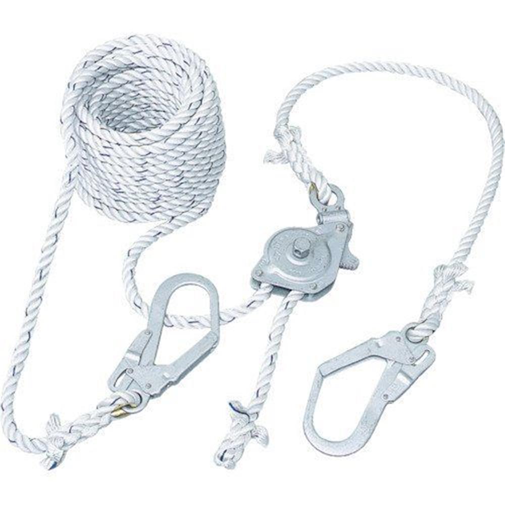 藤井電工 GCハリップ(10m) 墜落制止用器具 安全帯 台付ロープ 1m付 GCH-10