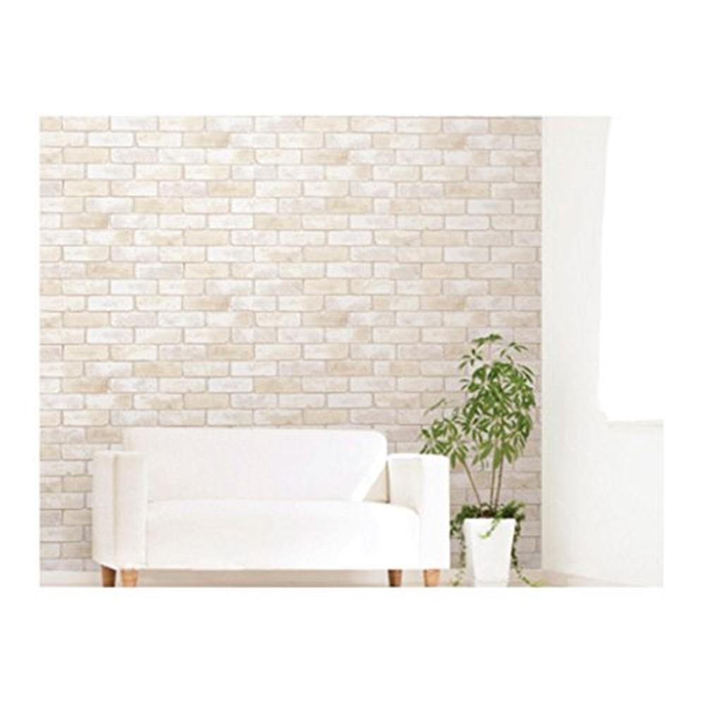 明和グラビア アクセント壁紙 レンガ 新入荷 品質保証 流行 92cmx2.5m WAP-501WH ホワイト
