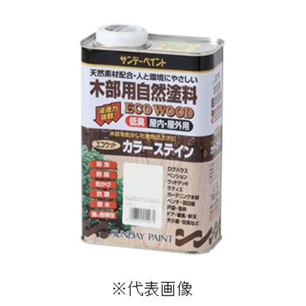 サンデーペイント エコウッドカラーステイン(チーク) 【3.4L】
