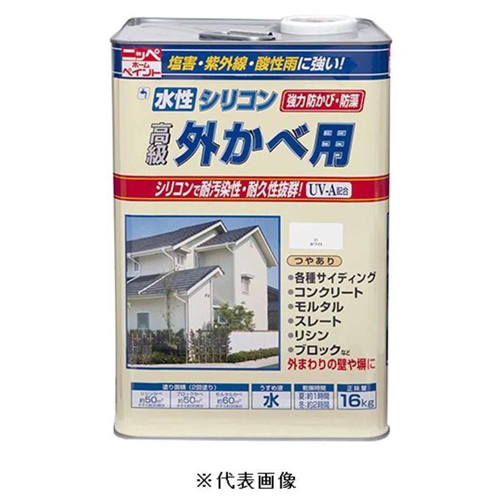 ニッペホームプロダクツ 水性シリコン外かべ用(クリーム) 【16kg】