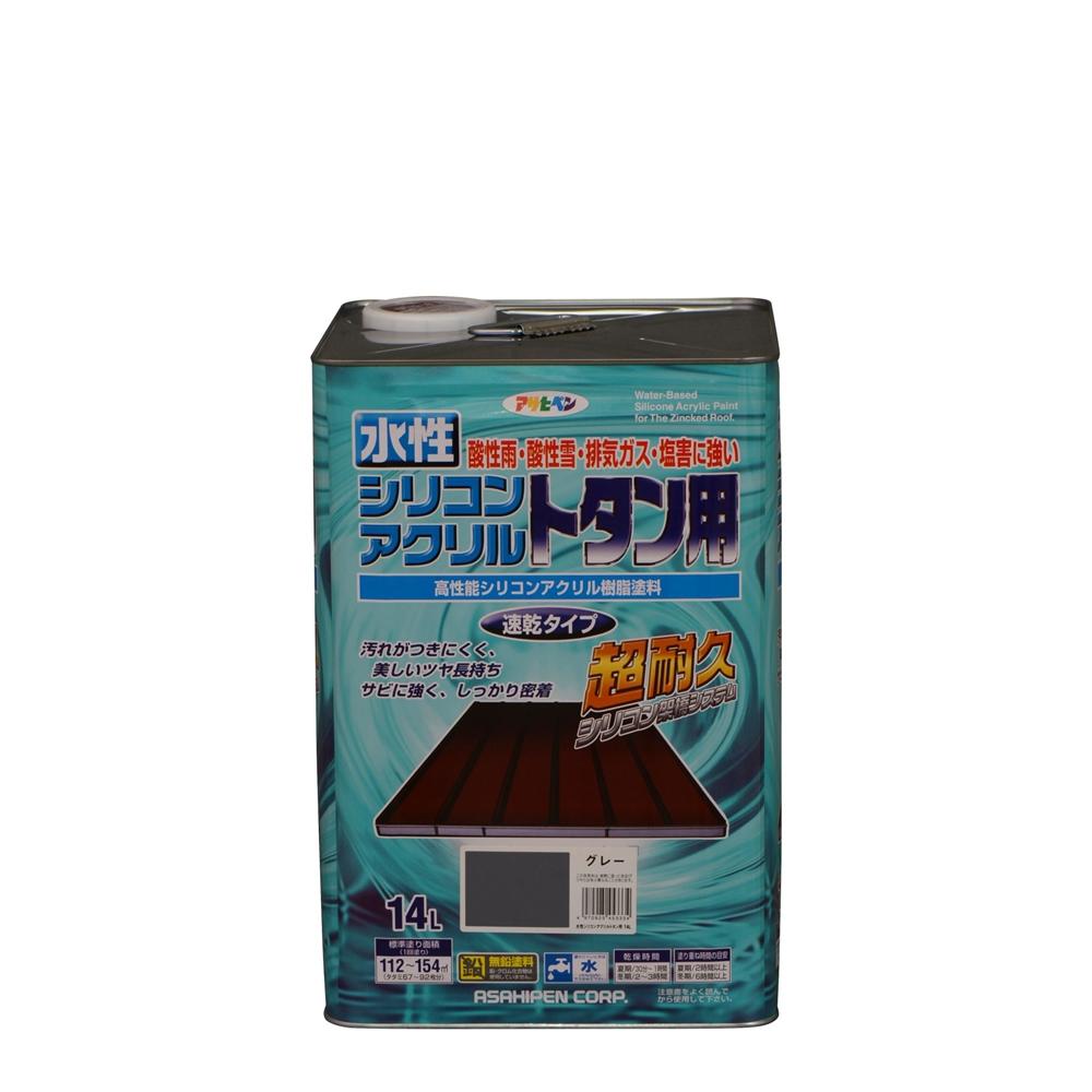 アサヒペン 水性シリコンアクリルトタン用(グレー) 【14L】