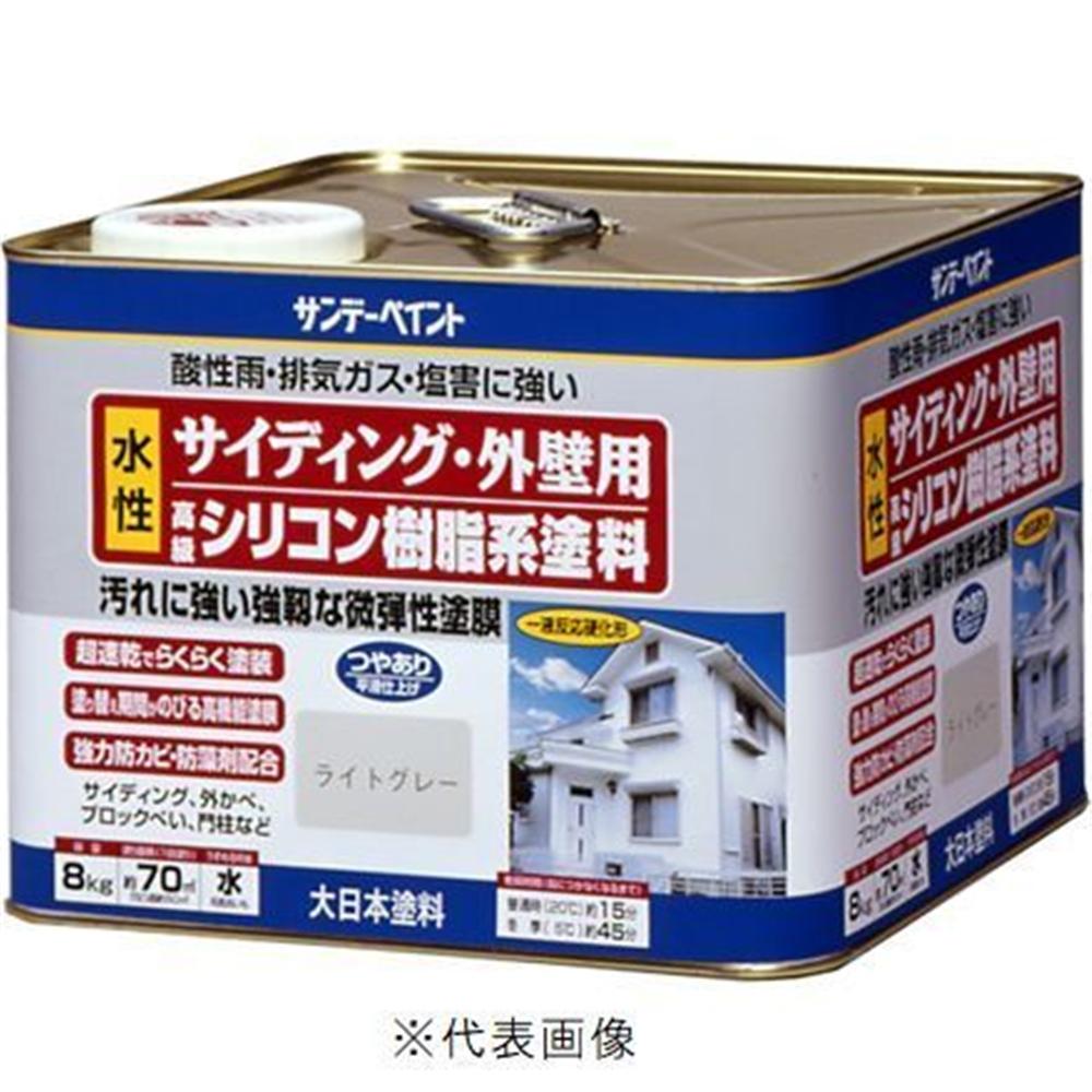 サンデーペイント 水性 サイディング・外壁用 シリコン樹脂系塗料 8Kg ミルキーホワイト