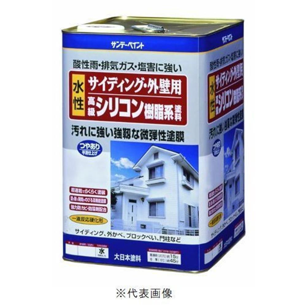サンデーペイント 水性 サイディング・外壁用 シリコン樹脂系塗料 16Kg ライトグレー