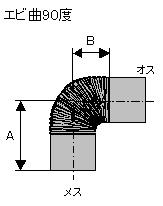HONMAホンマ制造厂普及型单一烟囱虾曲90度不锈钢φ106mm