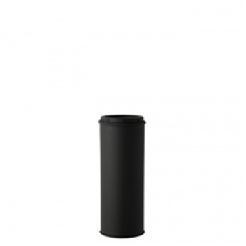 HONMA ホンマ製作所 黒耐熱ステンレス 直筒≪溶接煙突(二重)/煙突径φ120mm(外筒径φ170mm)≫ [No.501113035]