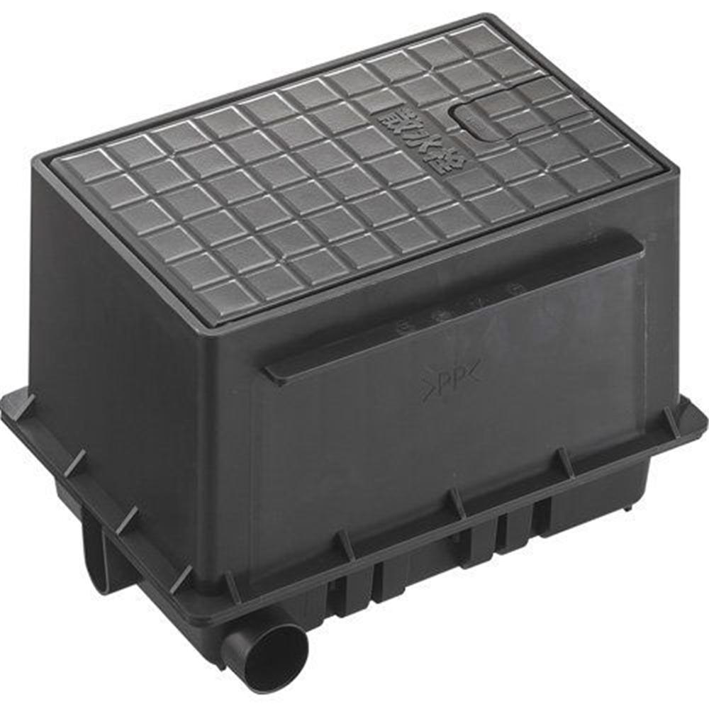 三栄水栓 SANEI 散水栓ボックスセット《ガーデニング》 [R81-92S-D]ブラック